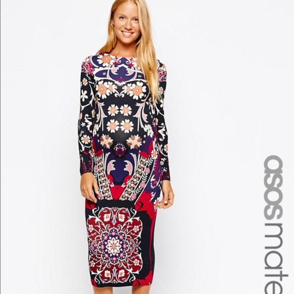 04f280a92629 ASOS Maternity Dresses & Skirts - ASOS maternity bodycon midi dress in floral  print